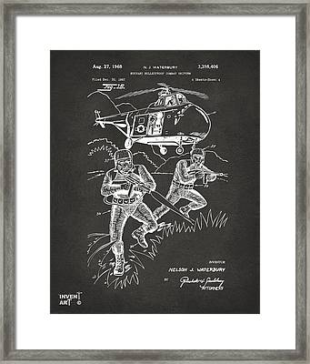 1968 Bulletproof Patent Artwork Figure 15 Gray Framed Print by Nikki Marie Smith