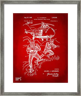 1968 Bulletproof Patent Artwork Figure 15 Red Framed Print