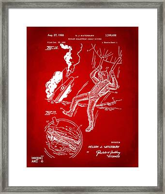 1968 Bulletproof Patent Artwork Figure 16 Red Framed Print by Nikki Marie Smith