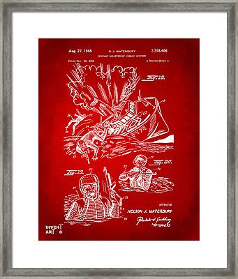 1968 Bulletproof Patent Artwork Figure 18 Red Framed Print