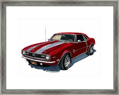 1968 Camaro S S 350 Framed Print by Jack Pumphrey
