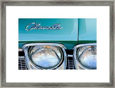 1968 Chevrolet Chevelle Headlight Framed Print by Jill Reger