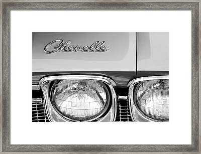 1968 Chevrolet Chevelle Hood Emblem Framed Print by Jill Reger