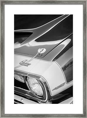 1968 Chevrolet Yenko Super Camaro Emblem -0653bw Framed Print by Jill Reger