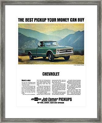 1968 Chevy 3/4 Ton Fleetside Pickup Truck Framed Print