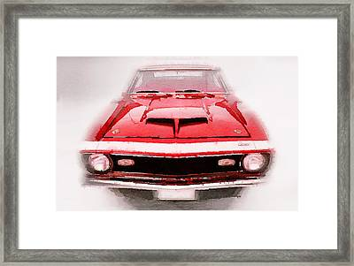 1968 Chevy Camaro Front End Watercolor Framed Print