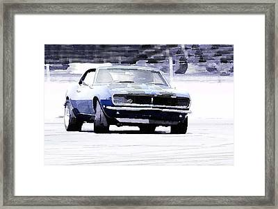 1968 Chevy Camaro Watercolor Framed Print