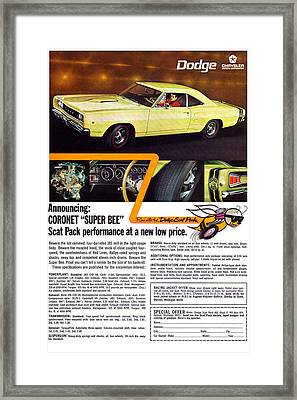 1968 Dodge Coronet Super Bee Framed Print by Digital Repro Depot