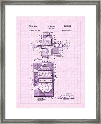 1968 Easy Bake Toy Oven Patent Art Framed Print by Barry Jones