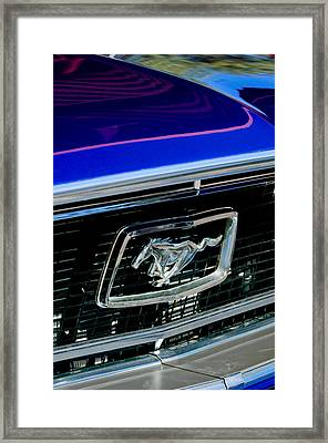 1968 Ford Mustang Cobra Gt 350 Grille Emblem Framed Print by Jill Reger