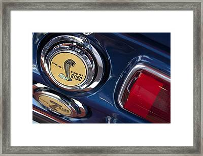1968 Ford Mustang - Shelby Cobra Gt 350 Taillight And Gas Cap Framed Print