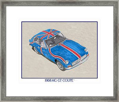 1968 M G G T  Coupe Framed Print by Jack Pumphrey