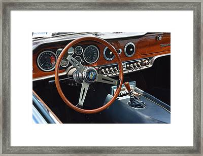 1968 Maserati Interior Framed Print by Mike Martin
