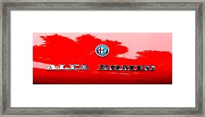 1969 Alfa Romeo Spider Veloce Iniezione Emblem Framed Print by Jill Reger