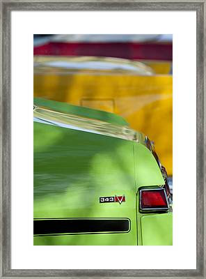 1969 Amc Javelin Sst Taillight Emblem Framed Print by Jill Reger