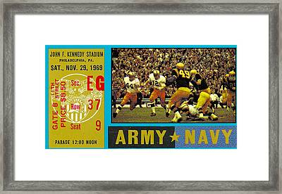 1969 Army Navy Ticket Framed Print by David Patterson
