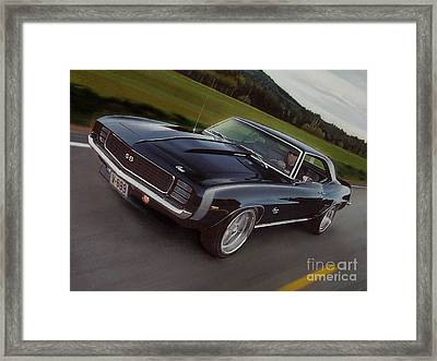 1969 Camaro In Motion Framed Print by Paul Kuras