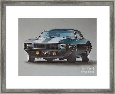 1969 Camaro Z28 Framed Print by Paul Kuras