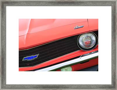 1969 Chevrolet Camaro Copo Replica Grille Emblems Framed Print by Jill Reger