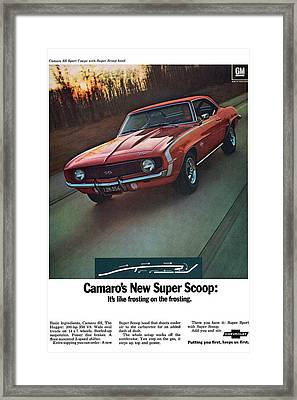 1969 Chevrolet Camaro New Super Scoop Framed Print by Digital Repro Depot