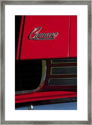 1969 Chevrolet Camaro Rally Sport Emblem Framed Print by Jill Reger