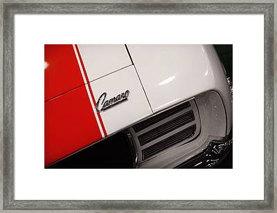1969 Chevrolet Camaro Ss Indianapolis 500 Pace Car Framed Print