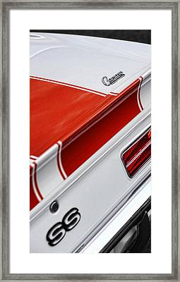 1969 Chevrolet Camaro Ss Indianapolis 500 Pace Car Rear Shot Framed Print by Gordon Dean II