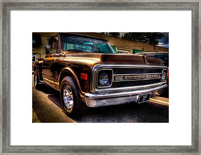 1969 Chevrolet Pickup Iv Framed Print by David Patterson