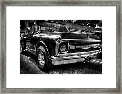 1969 Chevrolet Pickup V Framed Print by David Patterson