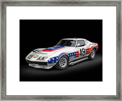 1969 Chevrolet Stars And Stripes L88 Zl-1 Corvette Framed Print