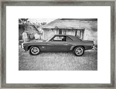 1969 Chevy Camaro Rs 396 Painted Bw Framed Print