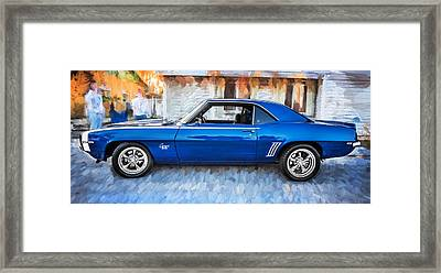 1969 Chevy Camaro Rs 396 Painted  Framed Print