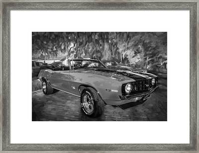 1969 Chevy Camaro Ss 350 Painted Bw  Framed Print by Rich Franco