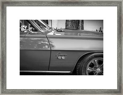 1969 Chevy Camaro Ss 396 Painted Bw Framed Print