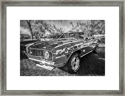 1969 Chevy Camaro Ss Painted Bw  Framed Print by Rich Franco