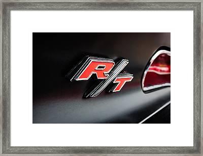 1969 Dodge Charger R-t Emblem Framed Print