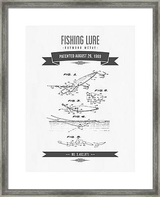1969 Fishing Lure Patent Drawing Framed Print by Aged Pixel