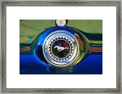 1969 Ford Mustang 302 Emblem Framed Print by Jill Reger