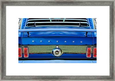 1969 Ford Mustang 302 Rear Emblem Framed Print by Jill Reger