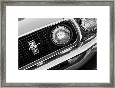1969 Ford Mustang Boss 429 Grill Emblem Framed Print by Jill Reger