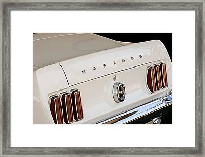 1969 Ford Mustang Boss 429 Taillight Emblem Framed Print by Jill Reger