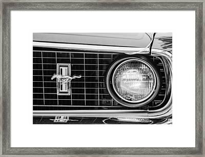 1969 Ford Mustang Mach 1 Grille Emblem Framed Print by Jill Reger