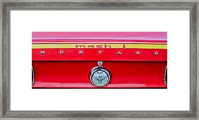 1969 Ford Mustang Mach 1 Rear Emblems Framed Print by Jill Reger