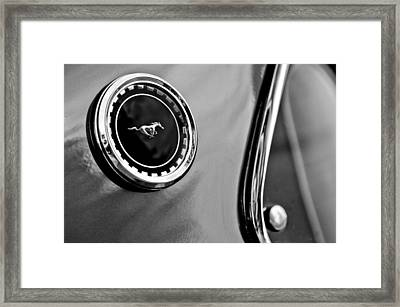 1969 Ford Mustang Mach 1 Side Emblem Framed Print by Jill Reger