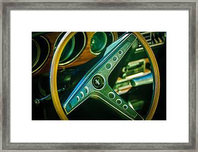 1969 Ford Mustang Mach 1 Steering Wheel Emblem Framed Print