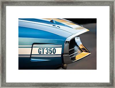 1969 Ford Shelby Gt 350 Convertible Emblem Framed Print