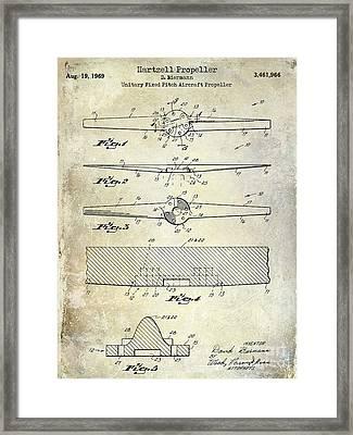 1969 Hartzell Propeller Patent Framed Print by Jon Neidert