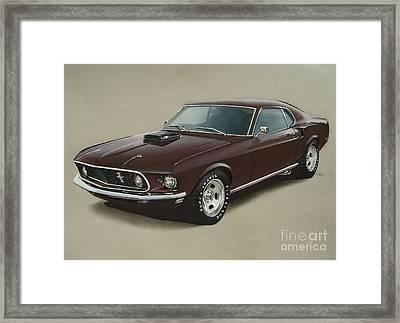 1969 Mustang Fastback Framed Print by Paul Kuras