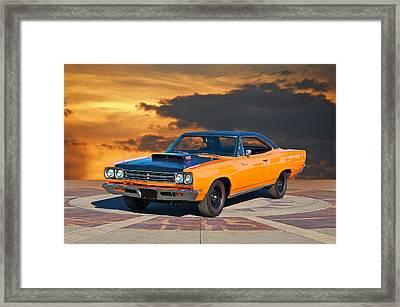 1969 Plymouth 440 6bl Roadrunner Framed Print