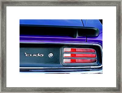 1969 Plymouth Barracuda - Cuda Emblem - Taillight Framed Print